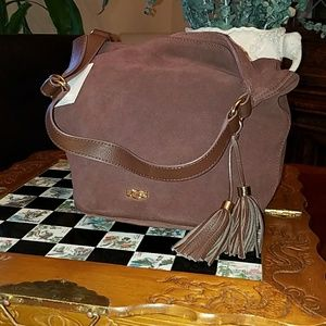 UGG Chocolate Suede Bucket Bag